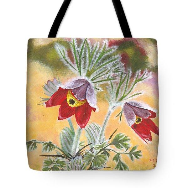 Granny Flowers Tote Bag