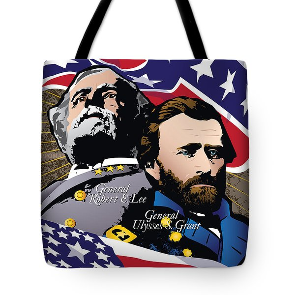 Grant And Lee At Appomattox Tote Bag