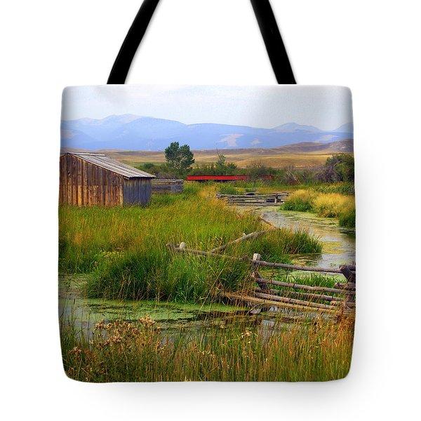 Grant Khors Ranch Deer Lodge  Mt Tote Bag by Marty Koch