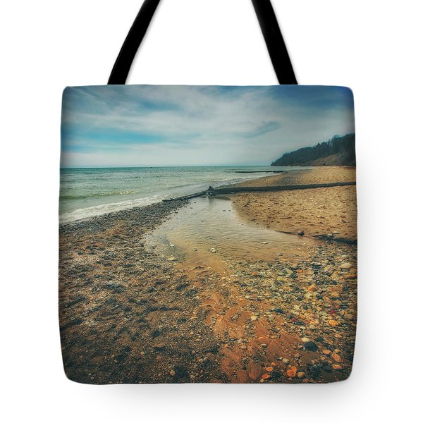 Tote Bag featuring the photograph Grant Park - Lake Michigan Beach by Jennifer Rondinelli Reilly - Fine Art Photography