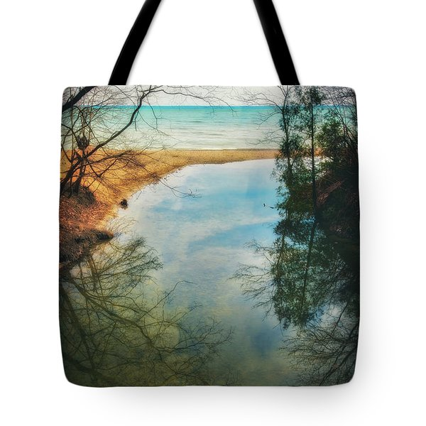 Tote Bag featuring the photograph Grant Park - Lake Michigan Shoreline by Jennifer Rondinelli Reilly - Fine Art Photography
