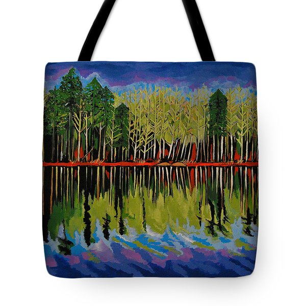 Grant's Lake Reflections Tote Bag by Kathleen Sartoris