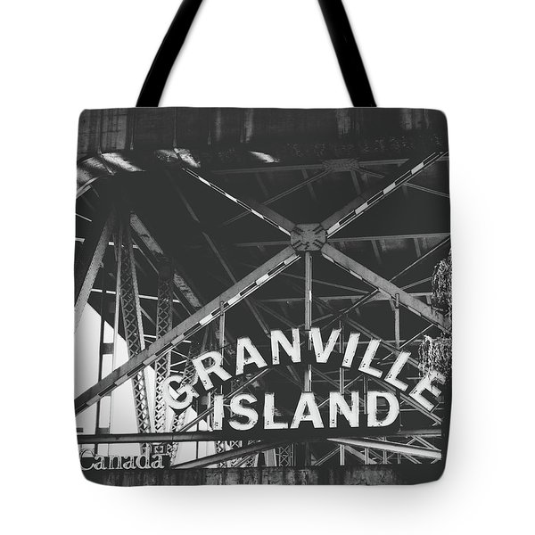Granville Island Bridge Black And White- By Linda Woods Tote Bag