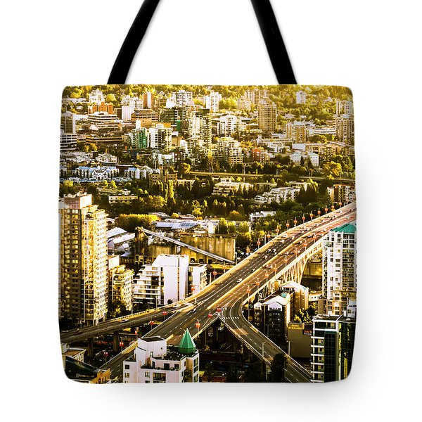 Granville Street Bridge Vancouver British Columbia Tote Bag