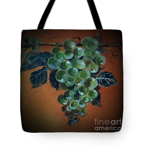 Tote Bag featuring the ceramic art Grape Cluster 1 by Andrew Drozdowicz