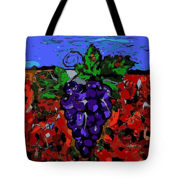 Grape Jazz Digital Tote Bag