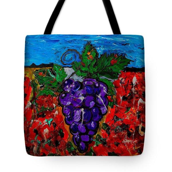 Grape Jazz Tote Bag