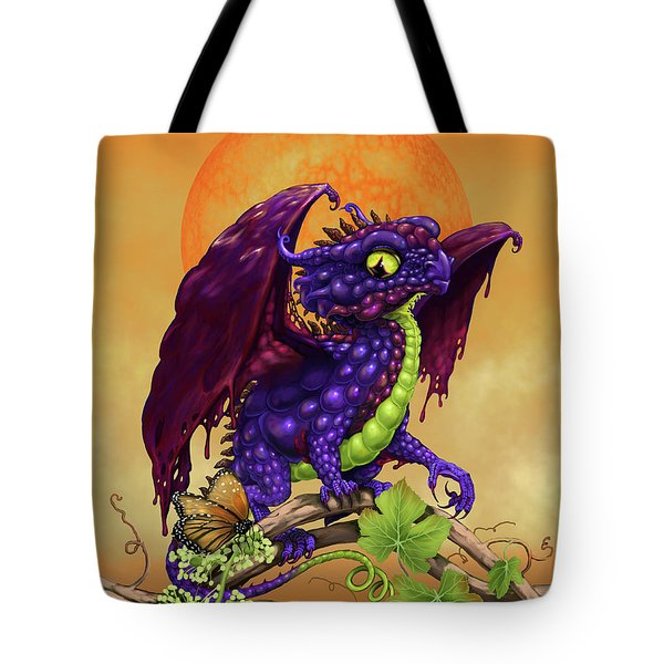 Grape Jelly Dragon Tote Bag