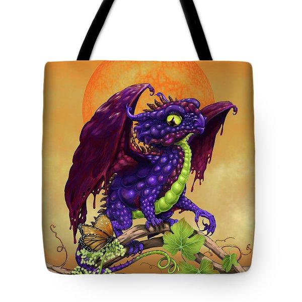 Grape Jelly Dragon Tote Bag by Stanley Morrison