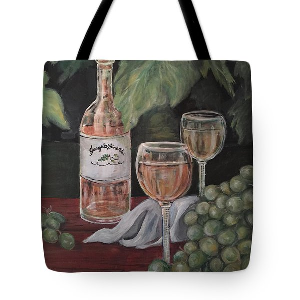 Grape Leaves And Wine Tote Bag