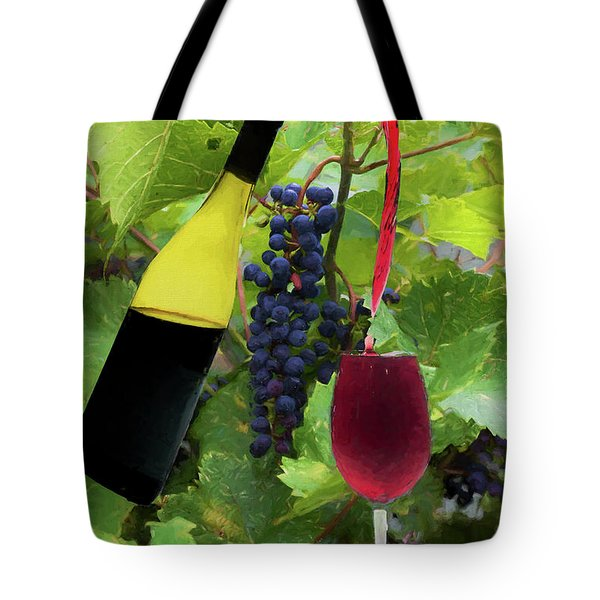 Tote Bag featuring the photograph Grape Refill by Dan Friend