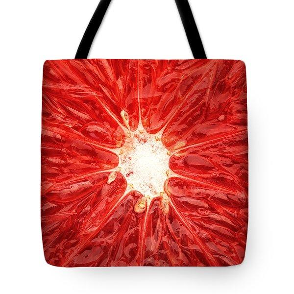 Grapefruit Close-up Tote Bag