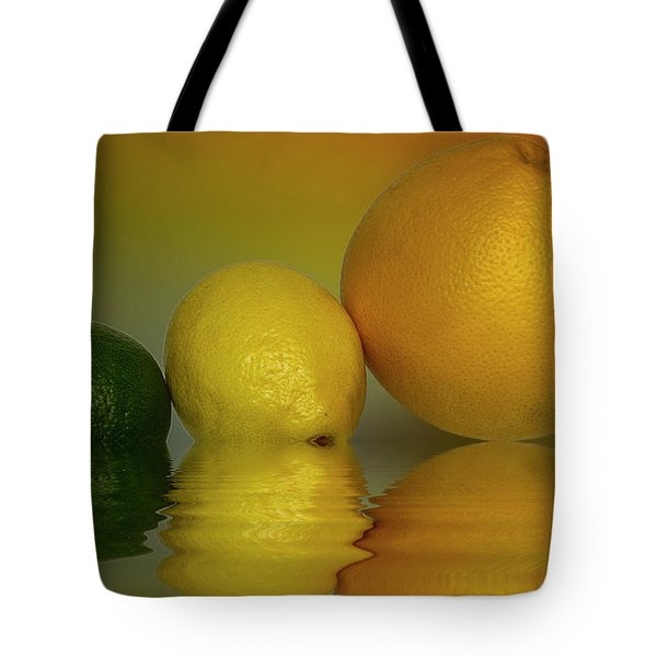Tote Bag featuring the photograph Grapefruit Lemon And Lime Citrus Fruit by David French