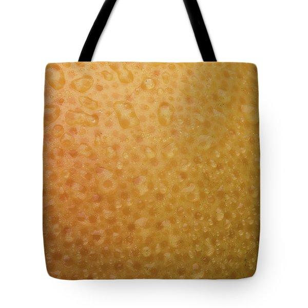 Grapefruit Skin Tote Bag by Steve Gadomski