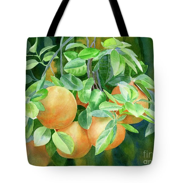 Grapefruit With Background Tote Bag by Sharon Freeman