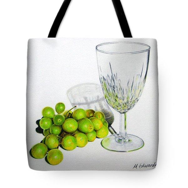 Grapes And Crystal Tote Bag