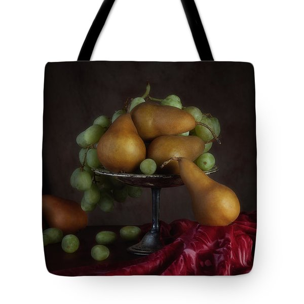 Grapes And Pears Centerpiece Tote Bag by Tom Mc Nemar