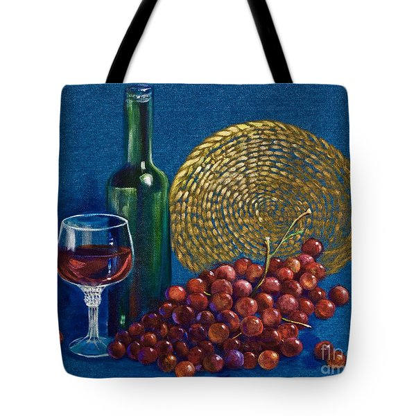 Grapes And Wine Tote Bag