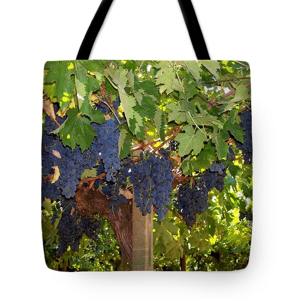 Tote Bag featuring the photograph Grapes Are Ready by Judy Kirouac