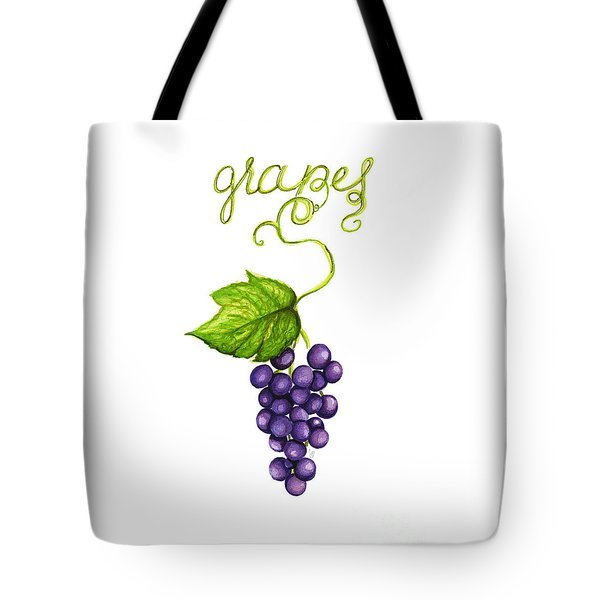 Tote Bag featuring the painting Grapes by Cindy Garber Iverson