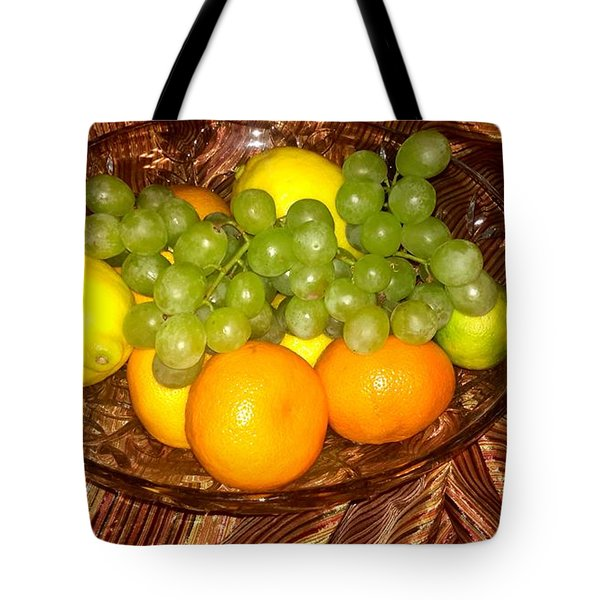 Grapes, Lemons, Mandarins And Lime  Tote Bag