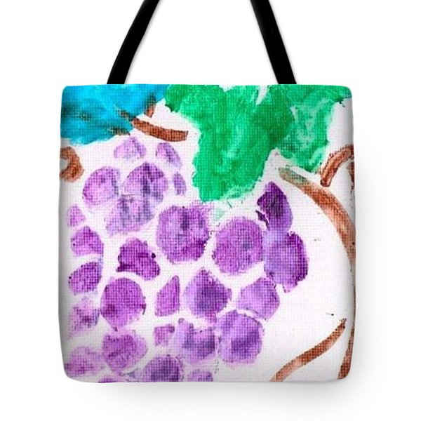 Tote Bag featuring the painting Grapes by Artists With Autism Inc