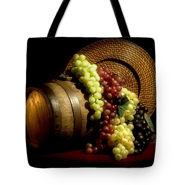 Grapes Of Wine Tote Bag by Tom Mc Nemar