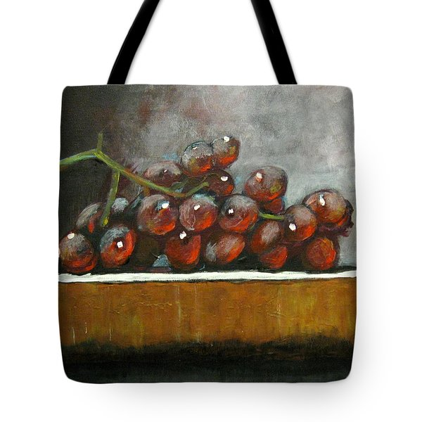 Grapes On A Block Tote Bag
