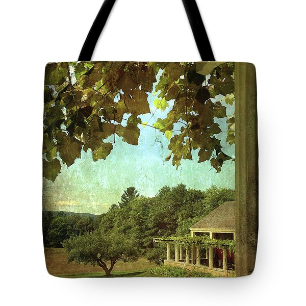 Grapes On Arbor  Tote Bag
