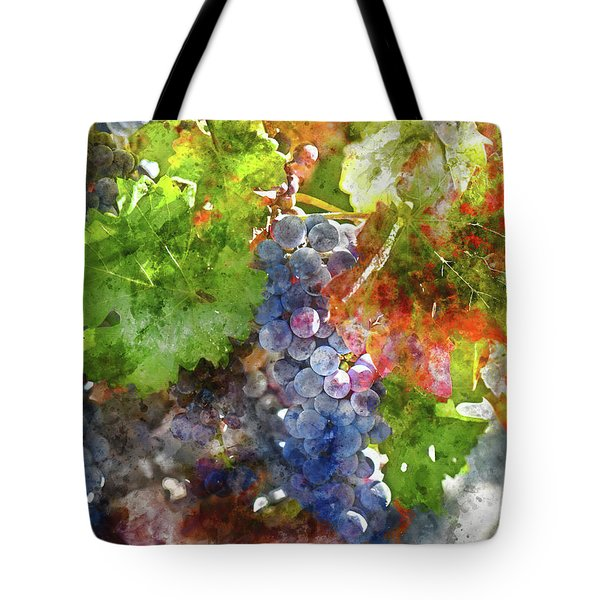 Grapes On The Vine In The Autumn Season Tote Bag