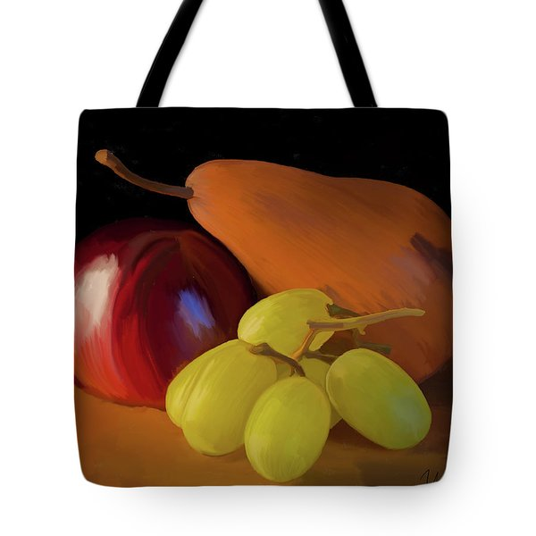 Grapes Plum And Pear 01 Tote Bag by Wally Hampton