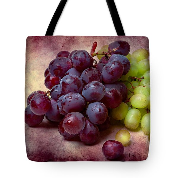 Tote Bag featuring the photograph Grapes Red And Green by Alexander Senin