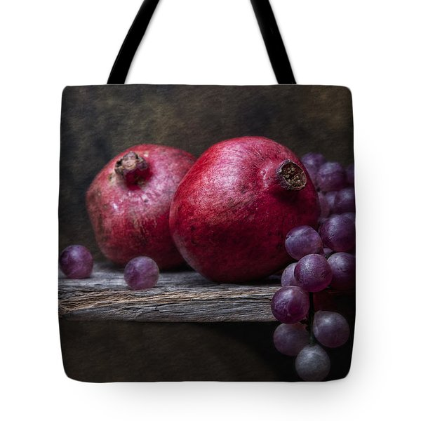 Grapes With Pomegranates Tote Bag by Tom Mc Nemar