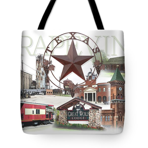 Grapevine Texas Tote Bag by Doug Kreuger
