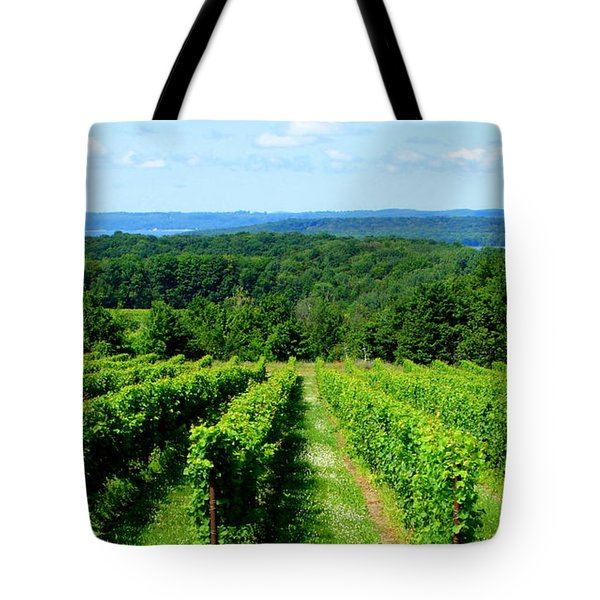 Grapevines On Old Mission Peninsula - Traverse City Michigan Tote Bag by Michelle Calkins