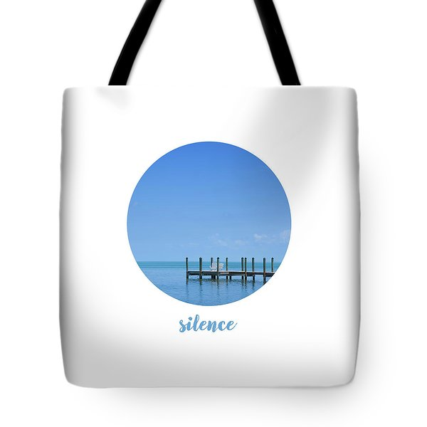 Graphic Art Silence - Oceanview Tote Bag
