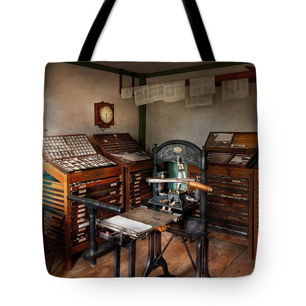 Graphic Artist - The Print Office - 1750  Tote Bag by Mike Savad