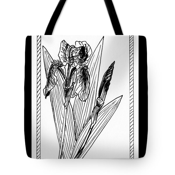 Graphic Iris Tote Bag