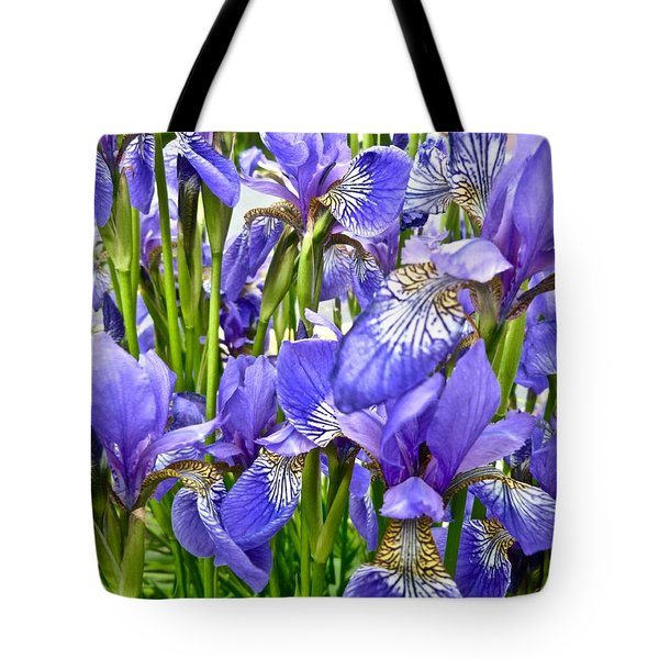 Graphic Irises Tote Bag by Tim Good