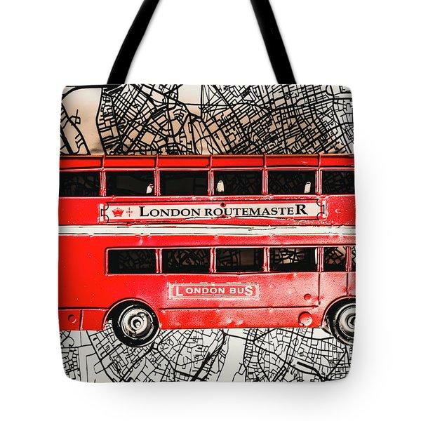 Graphic Of Great Britain Tote Bag