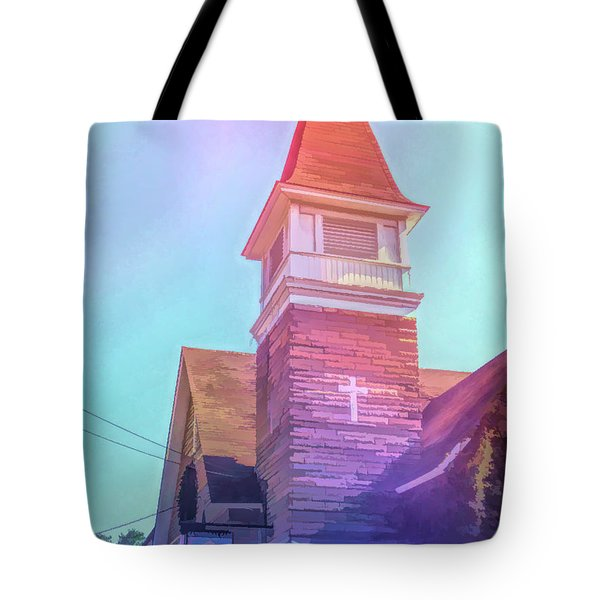 Tote Bag featuring the photograph Graphic Rainbow Cathedral Cafe by Aimee L Maher Photography and Art Visit ALMGallerydotcom