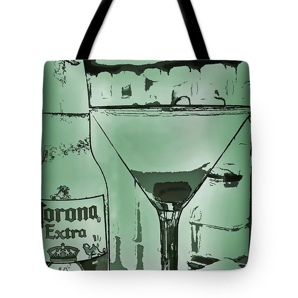 Graphic Refreshments Tote Bag by Pamela Blizzard