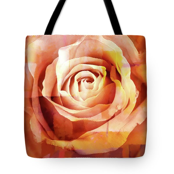 Graphic Rose Tote Bag