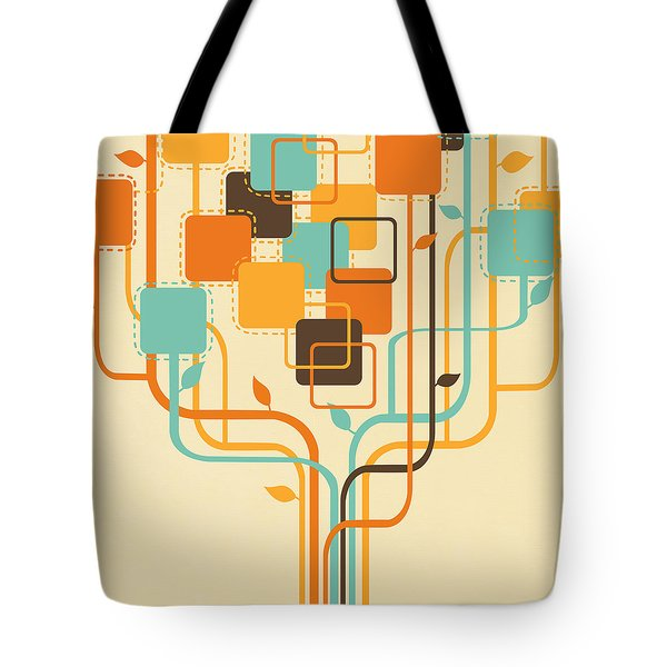 Graphic Tree Tote Bag