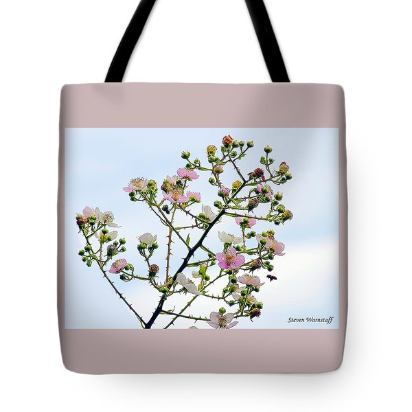 Grasping For The Hands Of Heaven Tote Bag by Steve Warnstaff