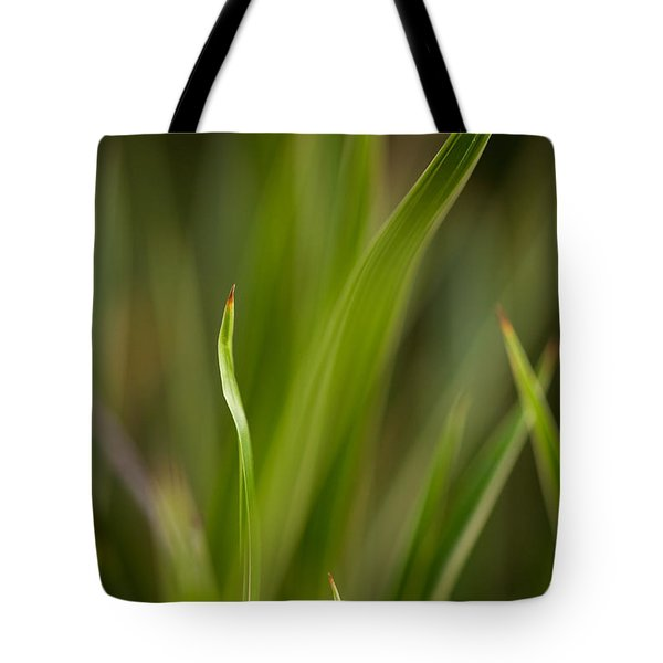 Grass Abstract 1 Tote Bag by Mike Reid