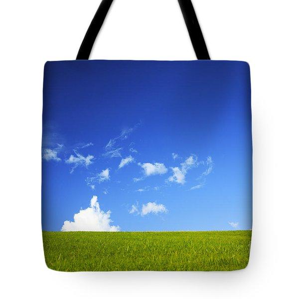 Grass Cloud Sky Tote Bag by Brandon Tabiolo - Printscapes