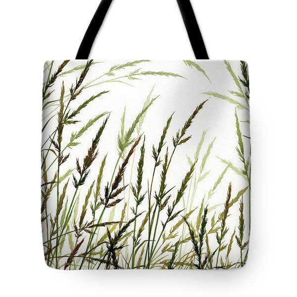 Tote Bag featuring the painting Grass Design by James Williamson
