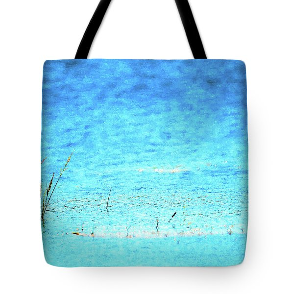 Grass In Water Tote Bag
