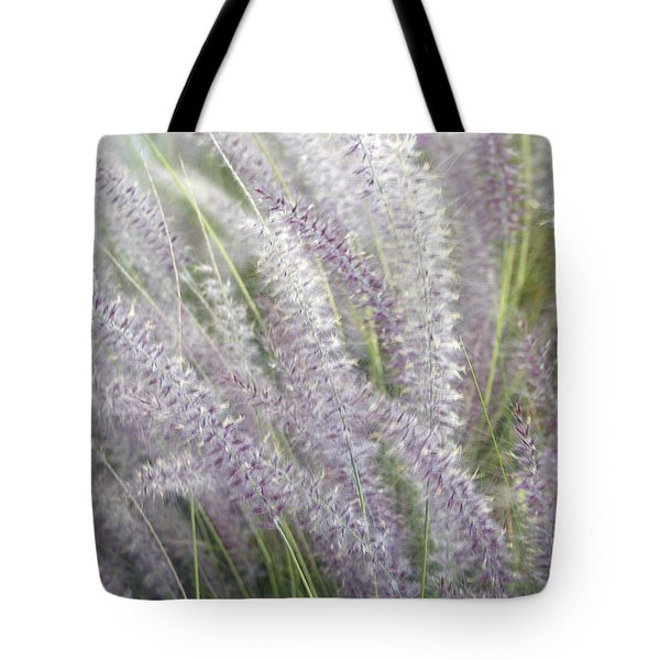 Tote Bag featuring the photograph Grass Is More - Nature In Purple And Green by Ben and Raisa Gertsberg
